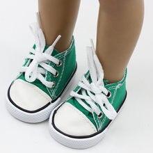 2d9277cf60d6e Bébé Poupée Cool Mode Toile à Lacets Sneakers Chaussures Pour 18 pouce  Fille Poupées Accessoires Chaussures