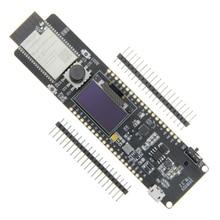 лучшая цена ESP32 Controller ESP32-WROVER 4MB SPI Flash And 8MB PSRAM 0.96OLED Five-Way Button 18650 Battery Holder