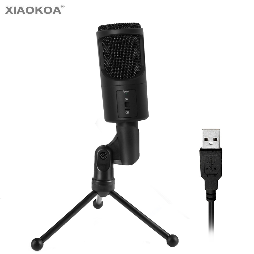 buy usb condenser microphone for computer usb with stand karaoke sound. Black Bedroom Furniture Sets. Home Design Ideas