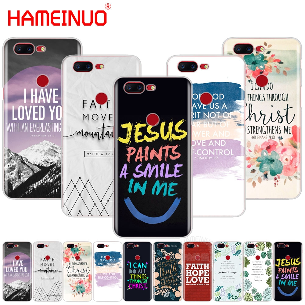 christian inspiration bible quotes verse jesus cover phone case for Oneplus one plus 5T 5 3 3t 2 X A3000 A5000