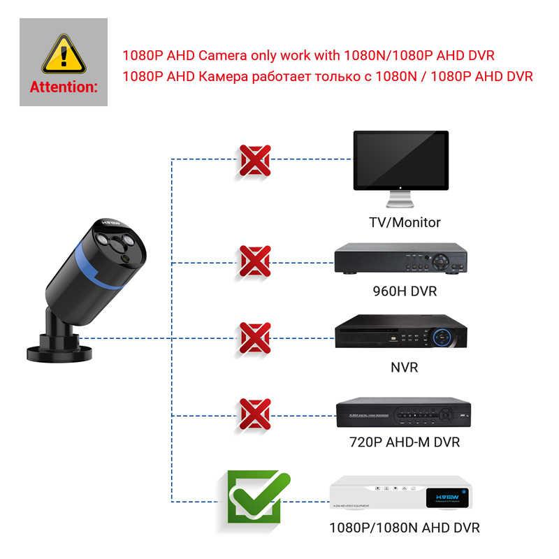 H. ANSICHT 1080P CCTV Video Kamera Kits Enthält 4 Video Kameras Outdoor Kamera AHD Netzteil und Anschluss Kabel