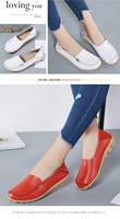 New casual women's shoes to send mother's shoes white shoes female leather non slip nurse shoes comfortable large size shoes off