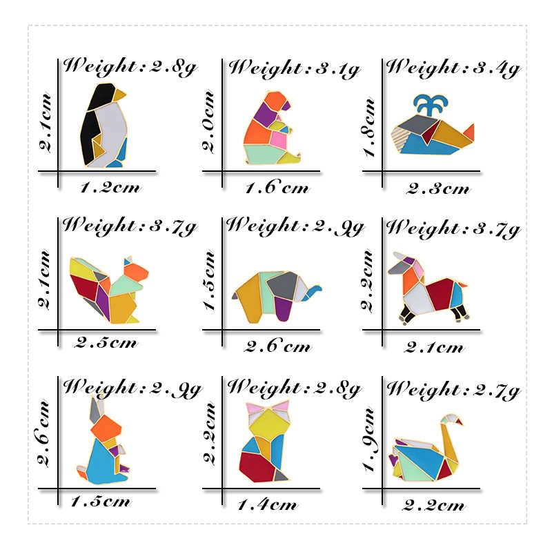 Cartone animato Spilla Colorata Coniglio Pinguino Gatto Dello Smalto Spille Balena Cavallo Risvolto Spilli Distintivi e Simboli Animale di Modo di trasporto del Regalo Dei Monili Dropship Spille g
