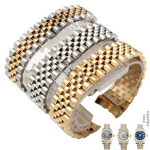 Classic for Labour log 5 beads stainless steel solid arc watch strap accessories chain 20mm