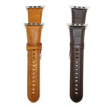 Genuine Leather Wristband For iWatch Series 1/2 Replacement 42mm 38mm