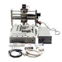 300 W cnc آلة طحن 3020 مصغرة 3 محور جهاز توجيه الخشب العمل منطقة 200x300x80mm|wood router|cnc milling machinecnc milling machine 3040 -