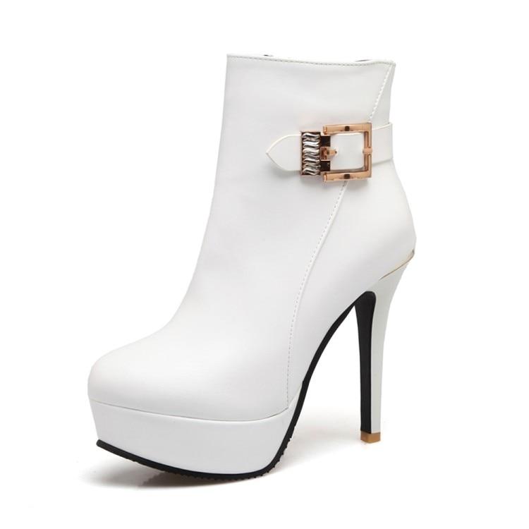 Plus Initiale Cheville Blue Chaussures 3 Élégant Talons Ef1392 Minces Bottes Mode White ef1392 Bout Rouge Rond Red Noir Nous 16 Femme ef1392 Taille De Femmes Blanc L'intention aBApqda