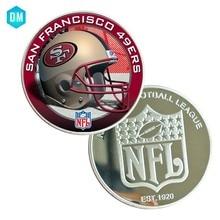 b2dd4eeb9dc6b Christmas Souvenir Gifts SAN FRANCISCO 49ERS NFL American Sport Team Coin  Football Commemorative Metal Coin(