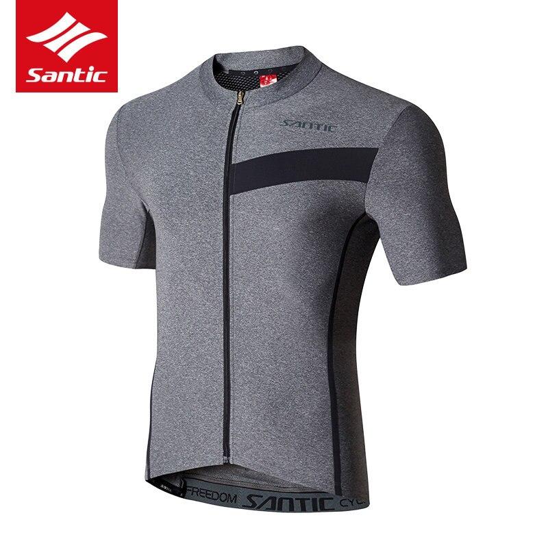 SANTIC Bike Jersey Motocross-Shirt Clothing Short-Sleeve Base-Layer Cycling Ciclismo
