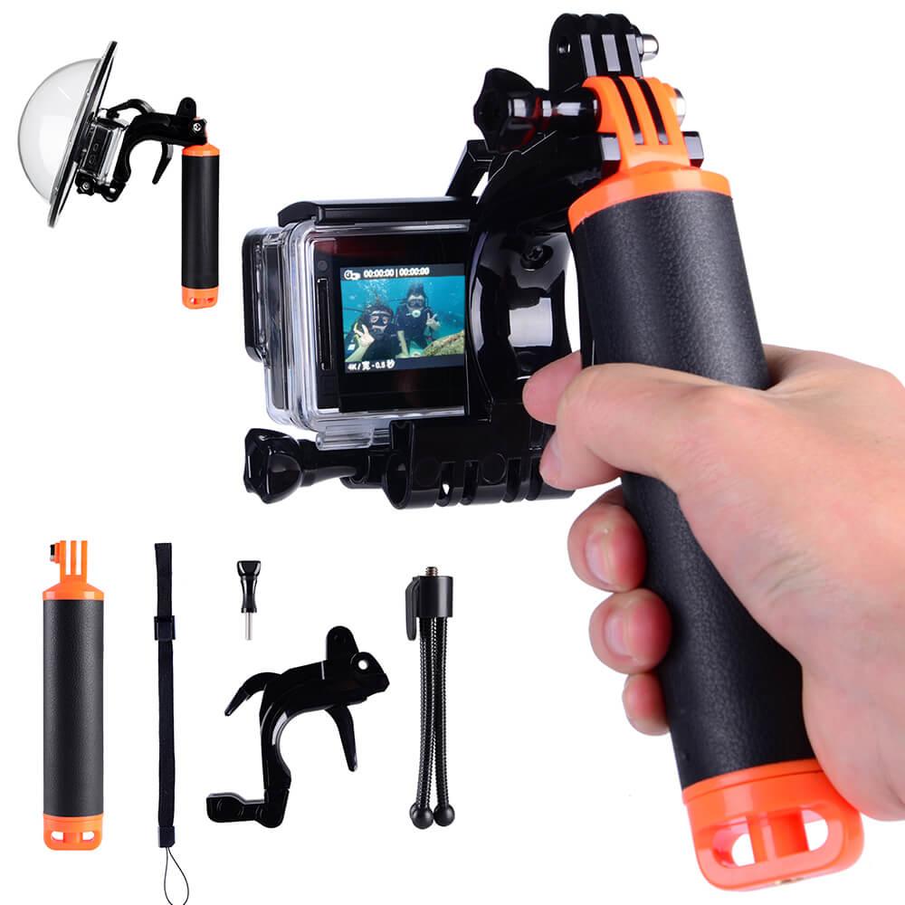 Accessoires Pour GoPro D'obturation Stabilisateur Section Pistolet Déclencheur Flottant Main Grip Trépied Pour GoPro Hero 6 5 4 Xiaomi yi 4 k