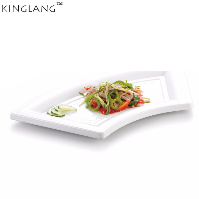 Melamine white tray fan shaped   dish plate for restaurant  hotel supplier CONTON food dish