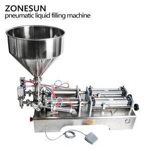 Image 2 - ZONESUN כפול ראשי מכונת מילוי אוטומטי פנאומטי הופר שמפו קרם לחות קרם קוסמטי שמן דבש