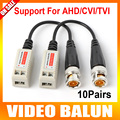 10 Pairs 200 M ( 660ft ) rango para HD CVI / AHD / TVI Twisted BNC CCTV pasivo transceptores UTP Balun BNC Cat5 UTP Video Balun CCTV