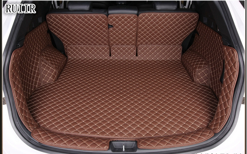 High Quality! Full Set Car Trunk Mats For Hyundai Santa Fe 5 Seats 2017-2013 Durable Cargo Liner Boot Carpets For Santafe 2016