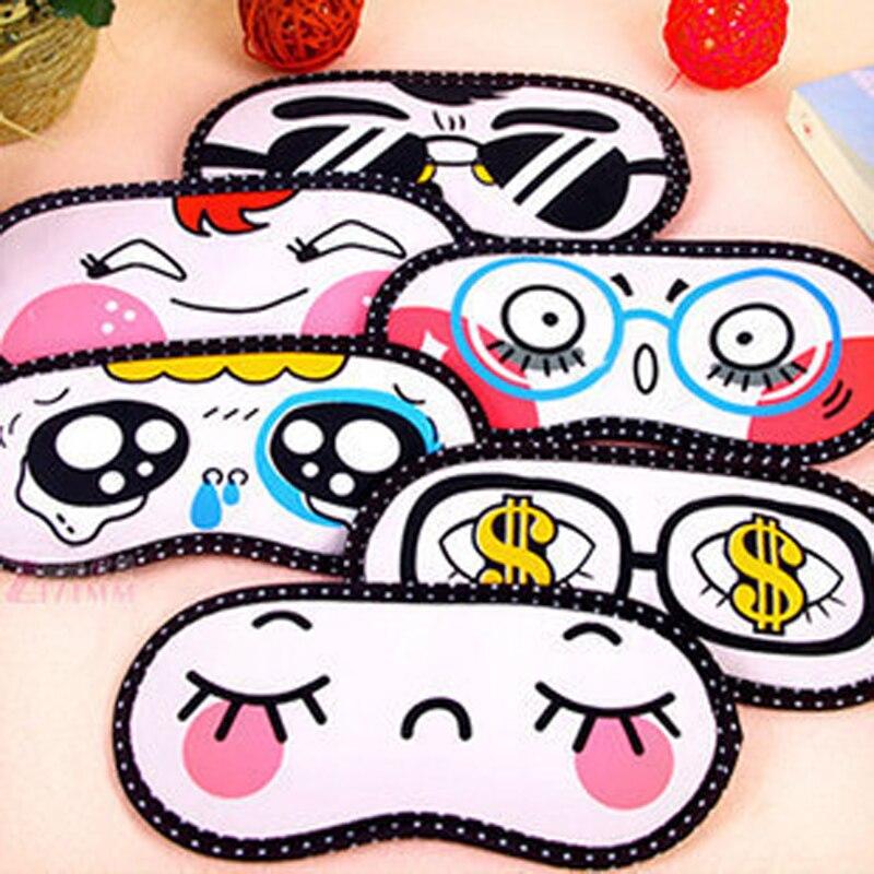 1pcs Cartoon Sleeping Eye Mask Lovely Nap Eye Care Shade Blindfold Sleep Mask Eyes Cover Sleeping Travel Rest Relaxing Aid Tools