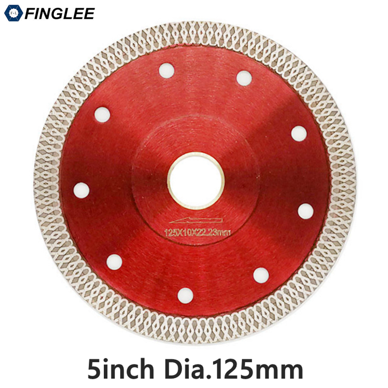 22.23 /125mm Wave Style Diamond Saw Blade for Porcelain tile ceramic Dry cutting aggressive disc marble granite Stone saw blade
