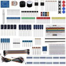 Keywish Diy אלקטרוני רכיב בסיס כיף ערכת עבור Arduino פטל Pi צרור עם טיפוס כבל הנגד, קבלים