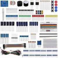 Keywish Diy Elektronische Komponente Basis Spaß Kit Für Arduino Raspberry Pi Bundle Mit Breadboard Kabel Widerstand, Kondensator