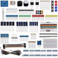 Keywish Electronic Component Base Fun Kit For Arduino Raspberry Pi Bundle With Breadboard Cable Resistor,Capacitor,LED Education