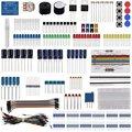 Keywish kit de diversão base componente eletrônico para arduino raspberry pi pacote com cabo de tábua de pão resistor, capacitor, educação led