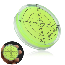 60x12mm Turnable Precision Round spirit level measurement Tools Instrument Circular Bubble Acrylic Level Indicator Shell Tool