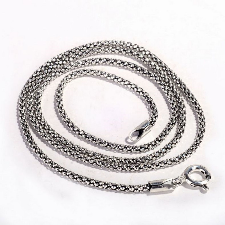 Character silver product Thai silver wholesale 925 sterling silver jewelry ms 2.5 m popcorn chain necklace with chain