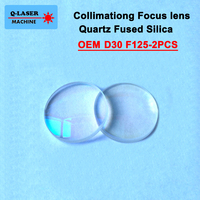 Spherical Collimating Lens D30 F125 2Pcs Precitec OEM Quartz Fused Silica for High Energy Fiber Laser 1064nm