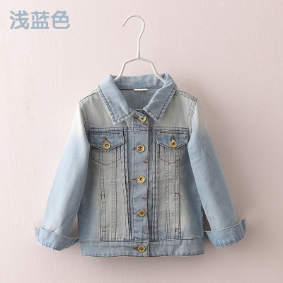 2016 Spring Female Child Children S Clothing Girl Baby Child Long Sleeve Denim General Outerwear