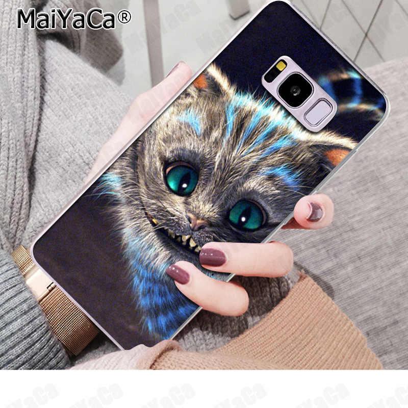 MaiYaCa アリスでワンダーランドチェシャ猫漫画ケース携帯電話ケース S9 S9 プラス S5 S6 S6edge S6plus S7 s7edge S8 S8plus