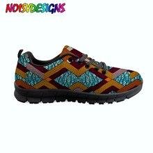 Mode femmes automne décontracté chaussures plates nouveauté style africain imprimer décontracté chaussures à lacets appartements pour dame confortable