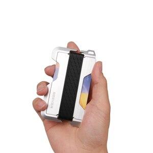 Image 5 - ZEEKER yeni tasarım alüminyum Metal RFID engelleme kredi kart tutucu hakiki deri Minimalist kart cüzdan erkekler için