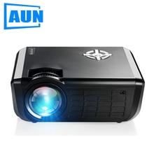 AUN HD LED Projecteur, 1280×720, 2000 Lumens, plus petit 720 P Multimédia Vidéo Projecteur pour La Maison, théâtre Ensemble en HDMI SD USB, M17