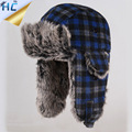 2016 Winter New Men Plaid Russian Rur Cap Ushanka Hats Women Ski Caps Earflap Cap Gorro Aviador Ruso Warm Fur Bomber Hat
