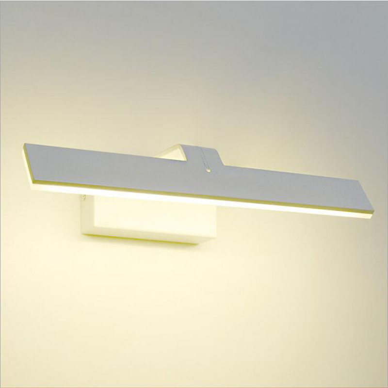Modern led mirror light wall mounted lamp fixture aluminum bathroom mirror wall lights lamps Lighting 40cm 12w acryl aluminum led wall lamp mirror light for bathroom aisle living room waterproof anti fog mirror lamps 2131