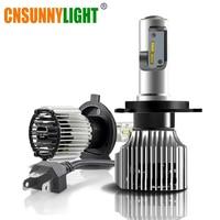 CNSUNNYLIGHT Car LED H4 Compact Headlight H7 H11 9005 HB3 9006 HB4 H1 Auto Bulbs 5500K