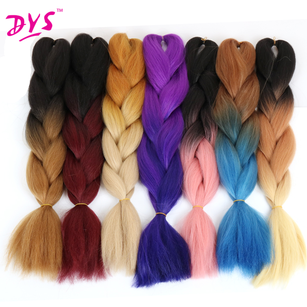 Deyngs 24inch Synthetic Jumbo Braids Hair 5pcs Pack Kanekalon Blonde Crochet Braids Kanekalon False Fake Braiding