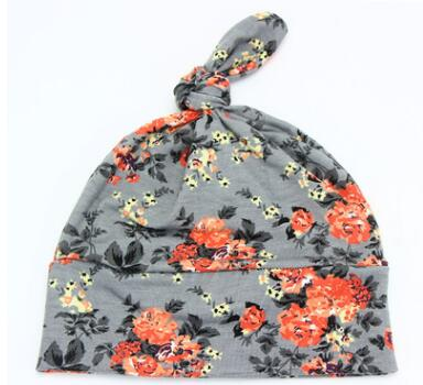 Hot Selling 2016 New Fashion Boys Sleep Hat Bo Floral Cap Cotton Cap One Piece Retail fashion handpainted palm sea sailing pattern hot summer jazz hat for boys