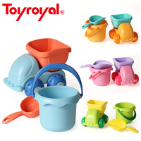 Toyroyal Flexible Beach Toys Set Colorful Summer Soft Sand Playing Tool For Children Toddlers Kids Gift