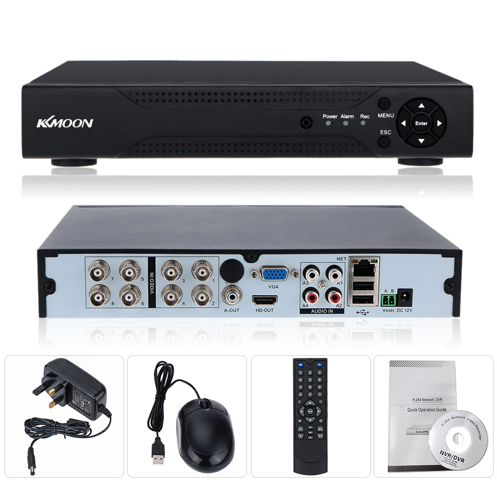 KKmoon 8 Channel AHD DVR 8CH 720P NVR Network DVR Recorder H.264 HDMI Video  Recorder Motion Detection NVR For AHD Camera System-in Surveillance Video  ...