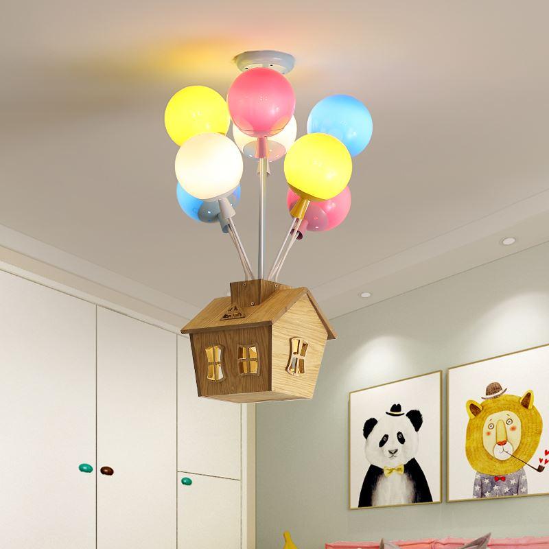 Потолочный светильник для детской комнаты, гостиной, ресторана, столовой, декоративный светильник s для дома, для детей, простой современный светодиодный потолочный светильник