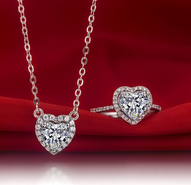 dba51398bde Awesome 2Ct Heart Shape Synthetic Diamonds Pendant 925 Sterling Silver  Pendant Necklace White Gold Color Jewelry Free Chain-in Pendants from  Jewelry ...
