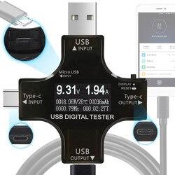 ATORCH Type-C pd USB tester DC Digital voltmeter amperimetor voltage current meter ammeter detector power bank charger indicator