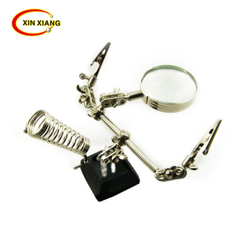 Magnifier MG16130  3 In 1 Hand Soldering Solder Iron Stand Holder Station Magnifier Welding Tool Kit Magnifying Lens