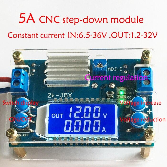DC DC Buck Converter CC CV Power Module 1.2-32V 5A Adjustable Regulated Power Supply Voltmeter Ammeter