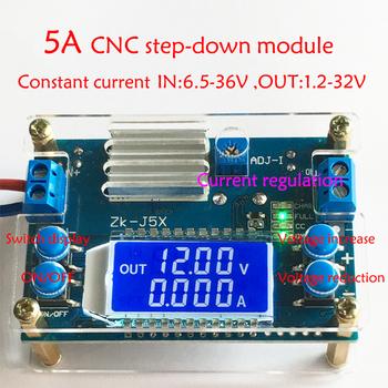 DC DC przetwornica CC CV moduł zasilania 1 2-32V 5A regulowany zasilacz regulowany woltomierz amperomierz tanie i dobre opinie ZK-J5X TKXEC