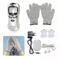 Digital Therapy Machine Full Body Massager Acupuncture 2 Pads+Gloves+Charger