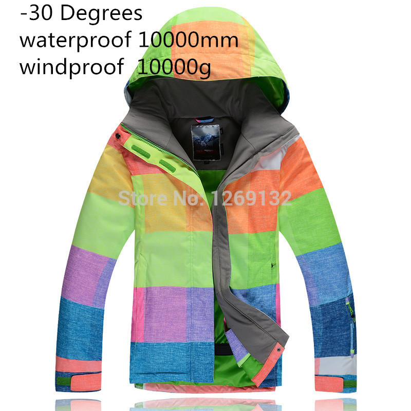 high quality women's Snow jacket winter outdoor sports Snowboarding skiing jackets ladies waterproof windproof thermal warm coat running river brand winter thermal women ski down jacket 5 colors 5 sizes high quality warm woman outdoor sports jackets a6012