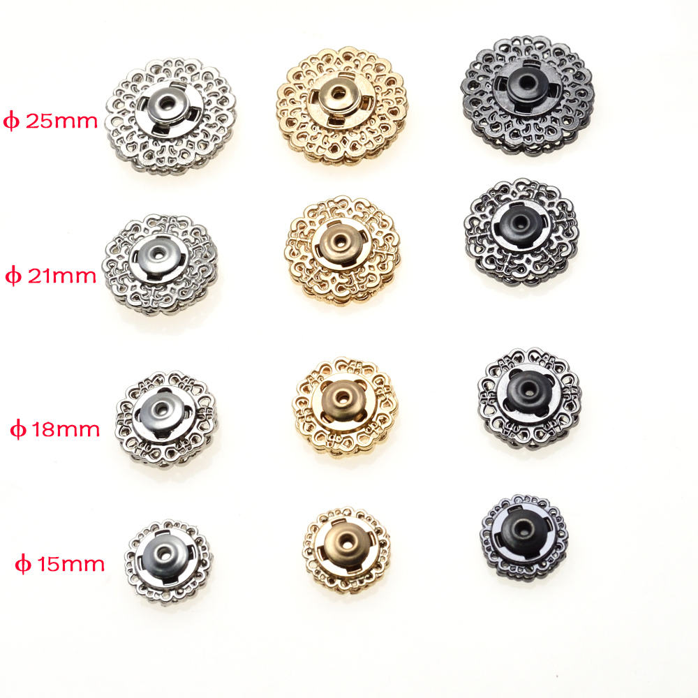 Intellective 10pcs/pack Metal Snap Fasteners Clasps Button For Handbag Purse Wallet Craft Suit Buckles Bags Parts Accessories Apparel Sewing & Fabric Buttons