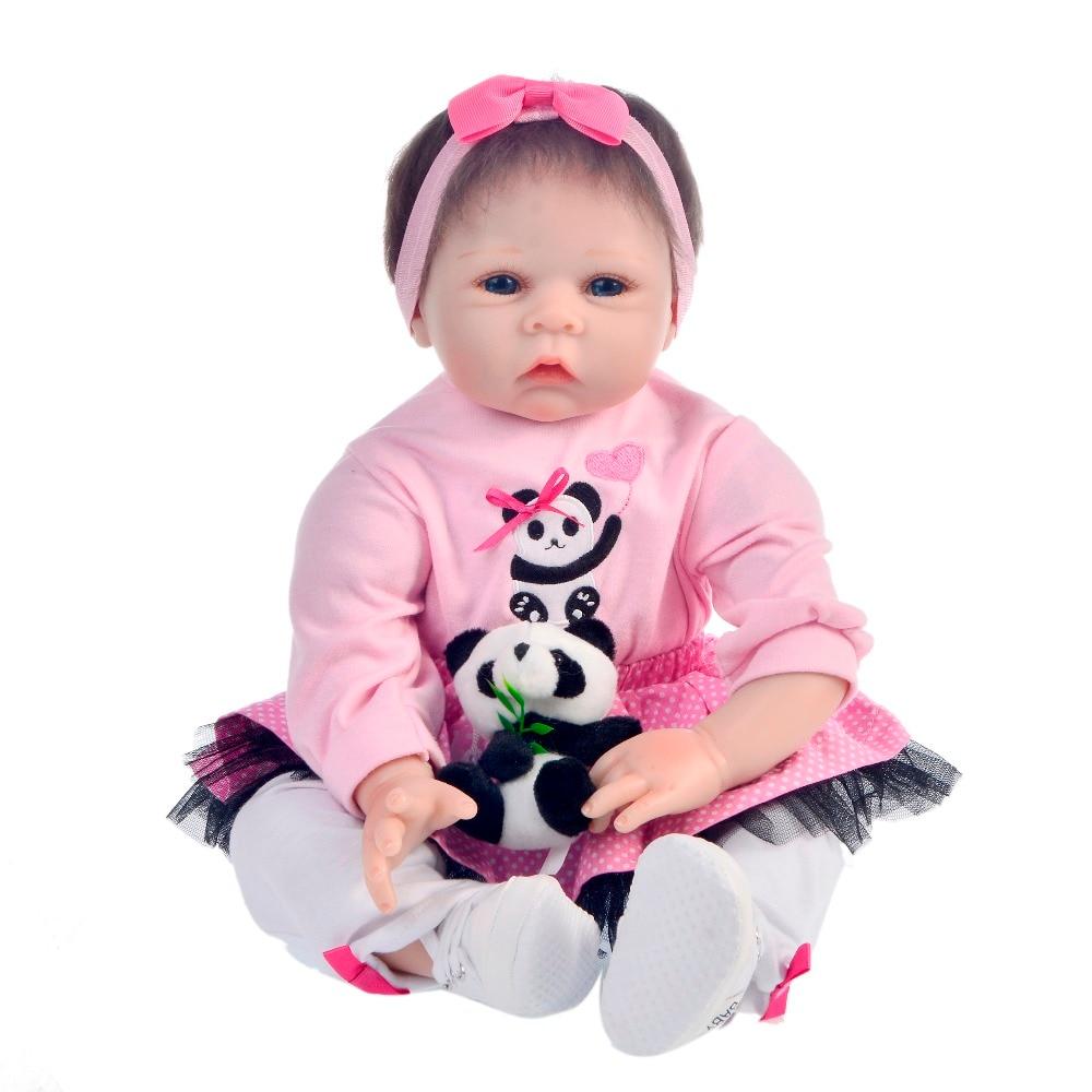 KEIUMI 22 Cal realistyczne Baby Girl lalki 55cm tkaniny ciała realistyczne noworodka żywe niemowlęta zabawki dla dziecka przed snem grać na początku edukacji w Lalki od Zabawki i hobby na  Grupa 3