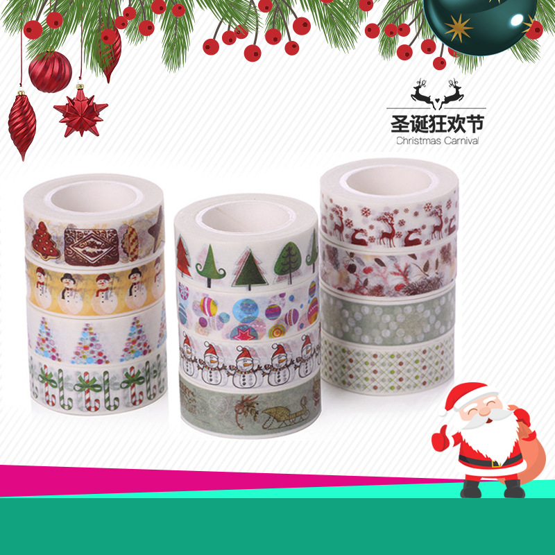 Bulk Christmas Trees Washi Tape Set of 12pcs Fun Versatile and Decorative Craft Tape Card making & stationery Party & gifting цена и фото